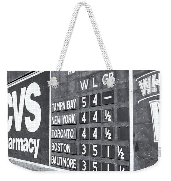 Fenway Park Green Monster Scoreboard II Weekender Tote Bag