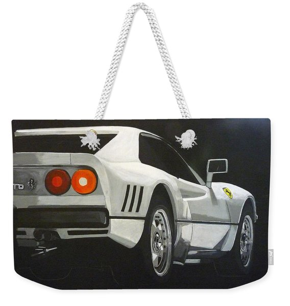 Weekender Tote Bag featuring the painting Ferrari 288 Gto by Richard Le Page