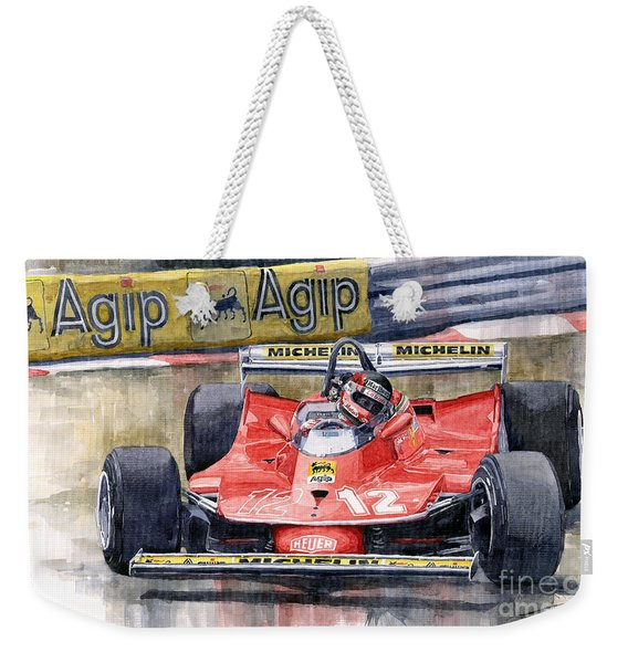 Ferrari  312t4 Gilles Villeneuve Monaco Gp 1979 Weekender Tote Bag