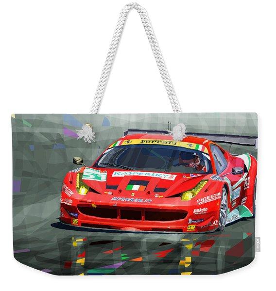 2012 Ferrari 458 Gtc Af Corse Weekender Tote Bag