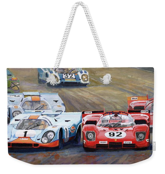 Ferrari Vs Porsche 1970 Watkins Glen 6 Hours Weekender Tote Bag