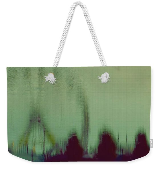 Weekender Tote Bag featuring the photograph Ferris Wheel Reflection by Patricia Strand