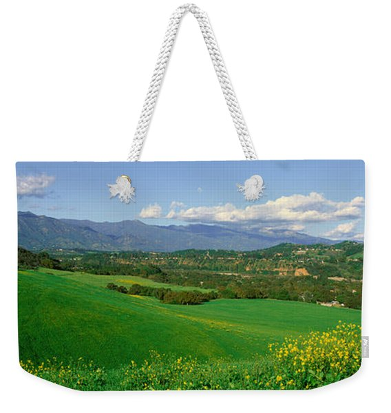 Field In Springtime, Ojai, California Weekender Tote Bag