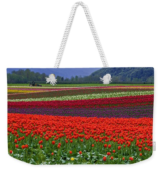 Field Of Tulips Weekender Tote Bag