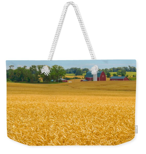 Weekender Tote Bag featuring the photograph Fields Of Gold by Garvin Hunter