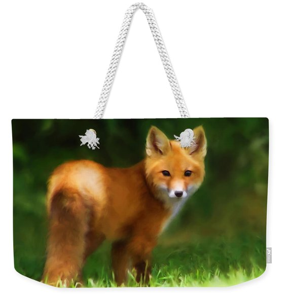 Fiery Fox Weekender Tote Bag