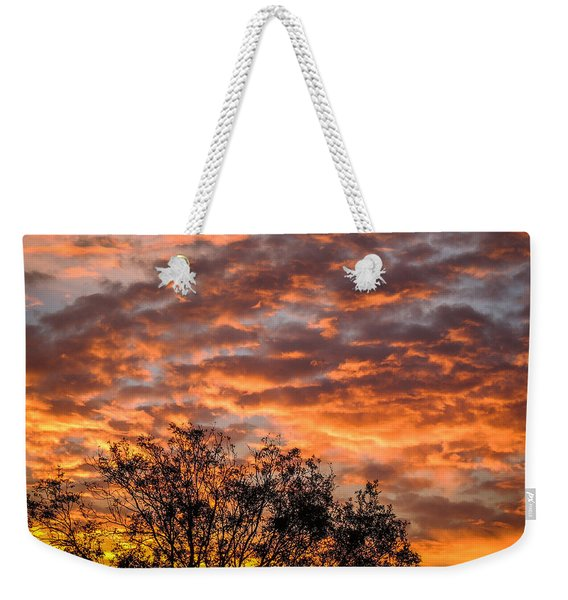 Fiery Sunrise Over County Clare Weekender Tote Bag