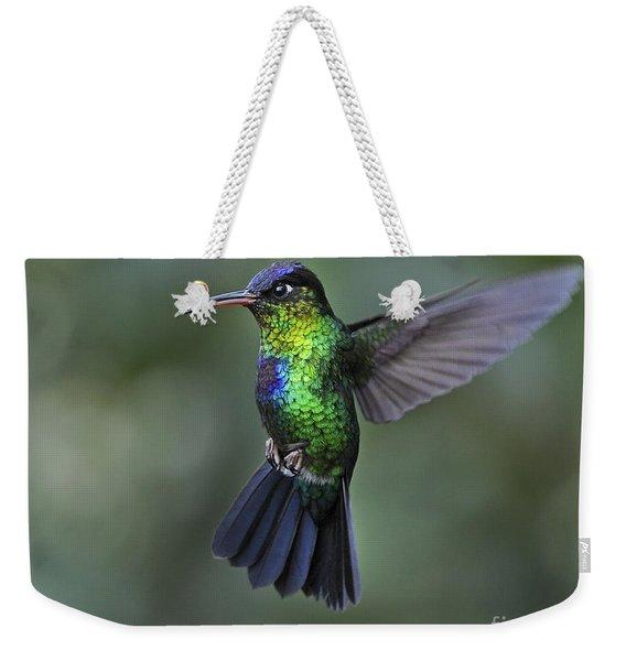 Fiery-throated Hummingbird..  Weekender Tote Bag