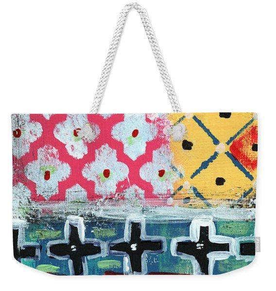 Fiesta 6- Colorful Pattern Painting Weekender Tote Bag