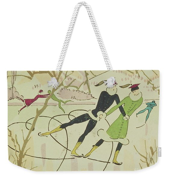 Figure Skating  Christmas Card Weekender Tote Bag
