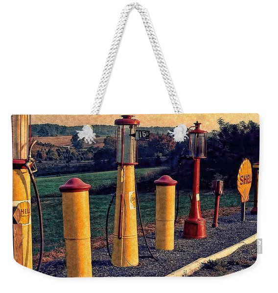 Fill 'er Up Vintage Fuel Gas Pumps Weekender Tote Bag