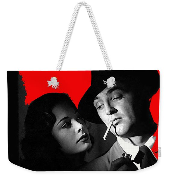 Film Noir Jane Greer Robert Mitchum Out Of The Past 1947 Rko Color Added 2012 Weekender Tote Bag