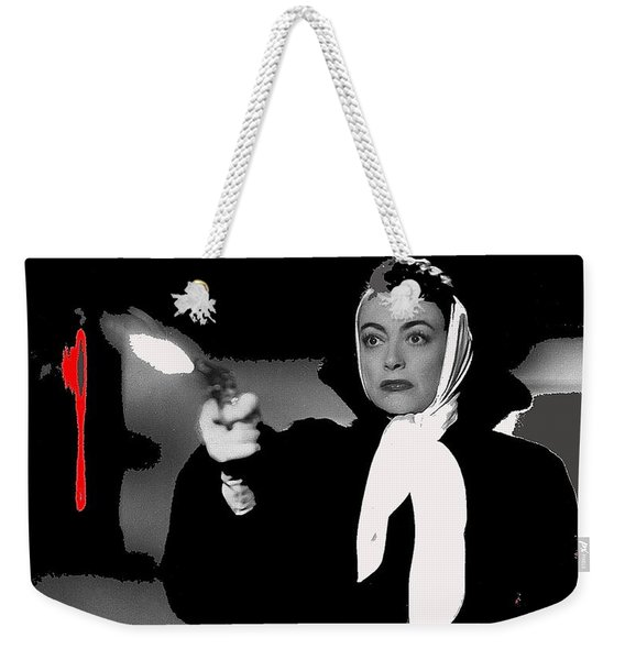 Film Noir Joan Crawford Jack Palance Sudden Fear 1952 Rko Publicity Photo Color Added 2012 Weekender Tote Bag