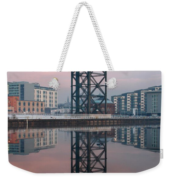 Finnieston Crane Reflections Weekender Tote Bag