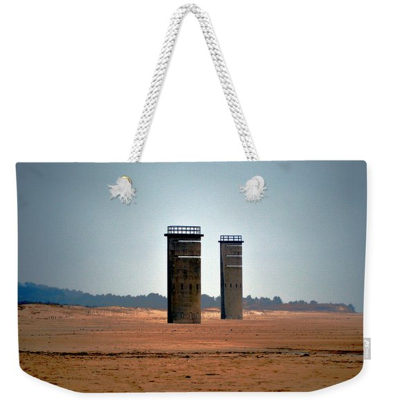 Fct5 And Fct6 Fire Control Towers On The Beach Weekender Tote Bag