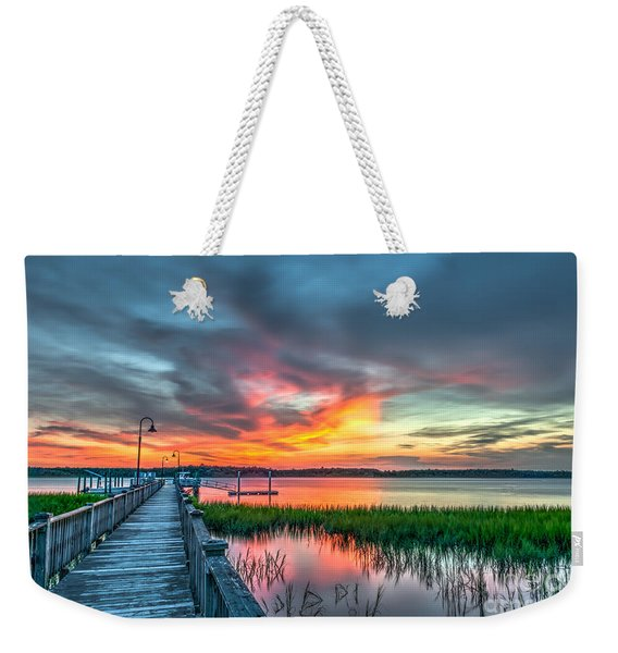 Fire Light Weekender Tote Bag