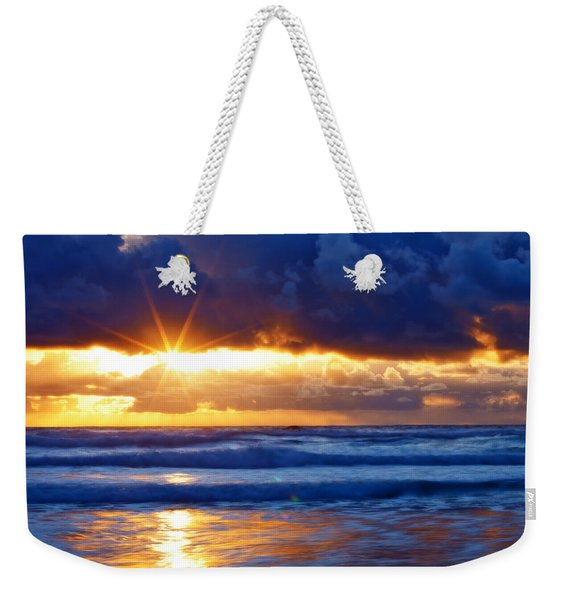 Fire On The Horizon Weekender Tote Bag