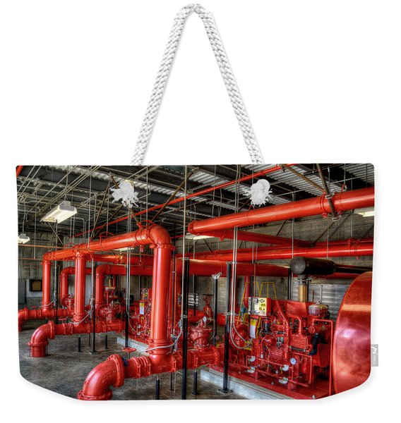 Fire Pump Weekender Tote Bag