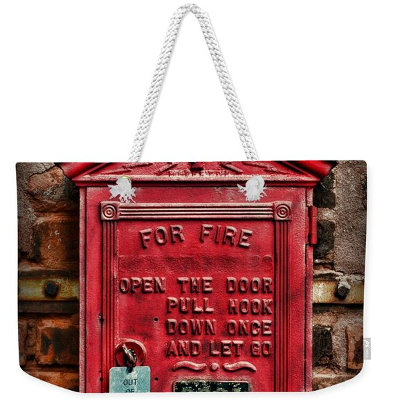 Fireman - Fire Alarm Box - Out Of Service Weekender Tote Bag
