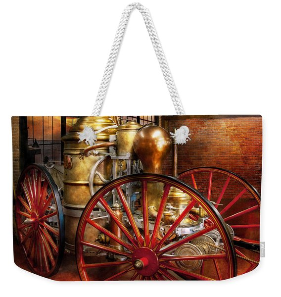 Fireman - One Day A Long Time Ago  Weekender Tote Bag