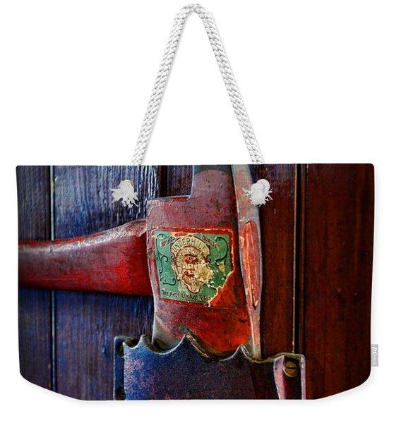 Fireman - Vintage Fire Axe Weekender Tote Bag