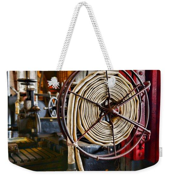 Fireman - Vintage Fire Hose Weekender Tote Bag