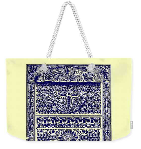 Fireplace Front Patent 1902 Weekender Tote Bag