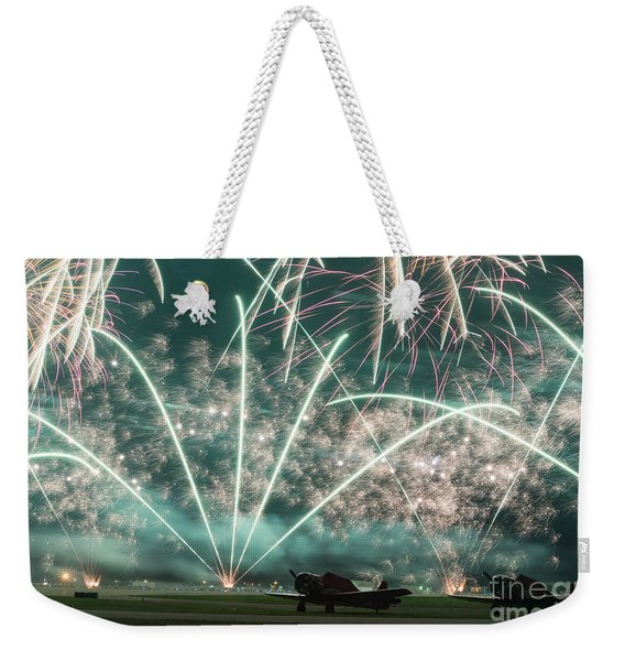 Fireworks And Aircraft Weekender Tote Bag