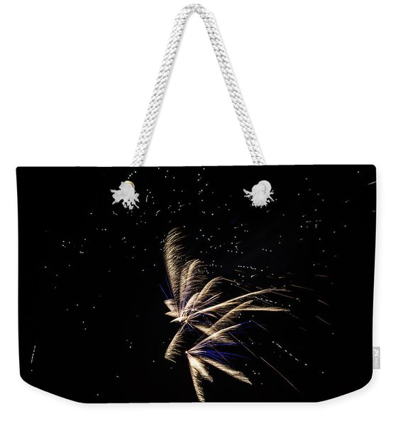 Weekender Tote Bag featuring the photograph Fireworks - Dragonflies In The Stars by Scott Lyons