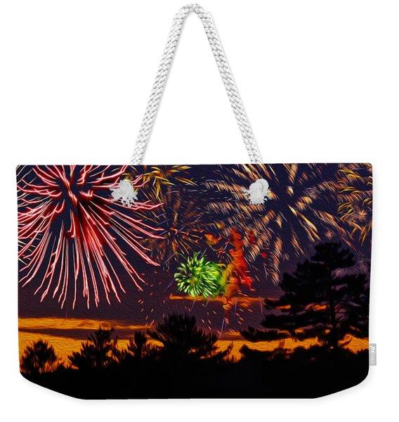 Fireworks No.1 Weekender Tote Bag