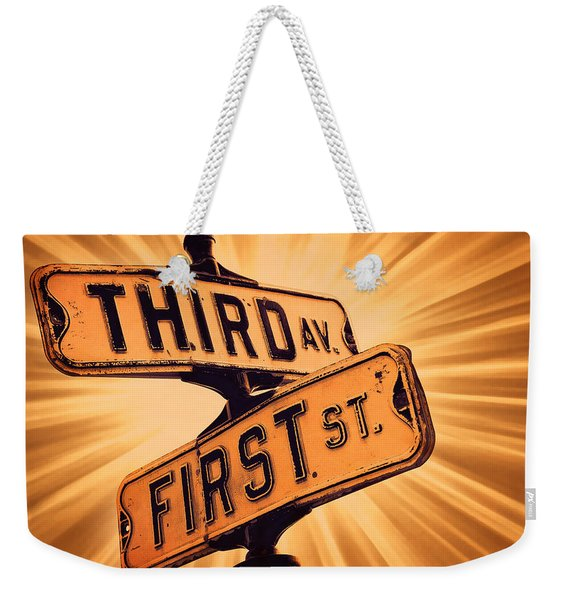 First And Third Weekender Tote Bag