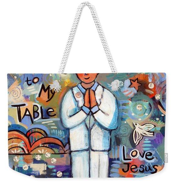 First Communion Boy Weekender Tote Bag