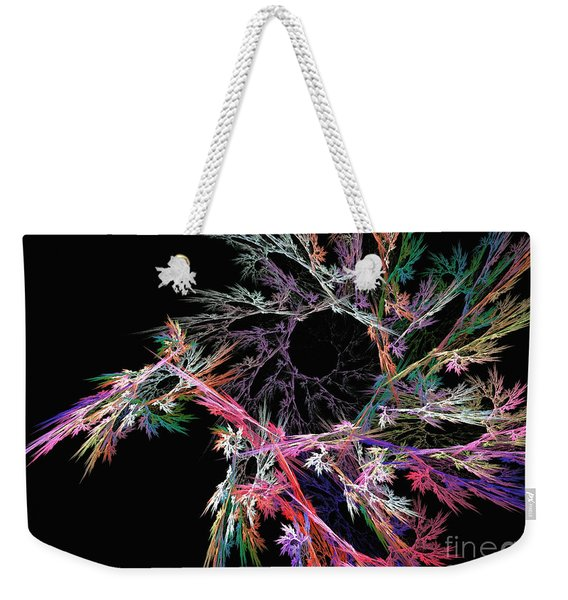 First Flower - Abstract Art Weekender Tote Bag