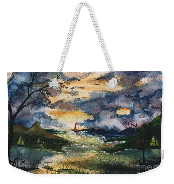 First One Out Of The Cove  Weekender Tote Bag