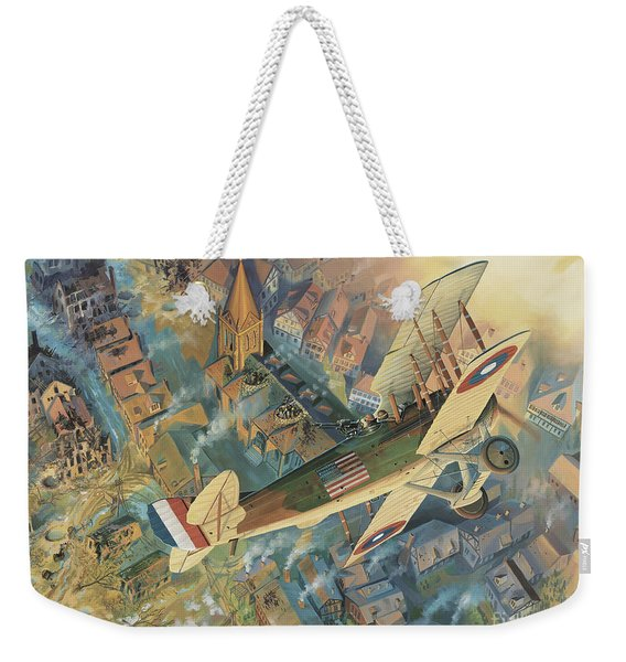 First Over The Front Weekender Tote Bag