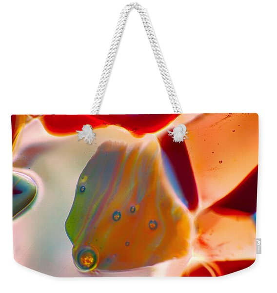 Fish Blowing Bubbles Weekender Tote Bag