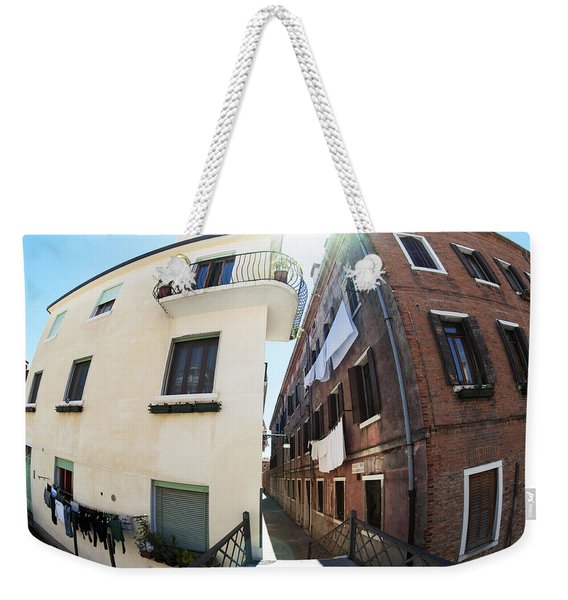 Fish Eye Laundry II Color Venice Italy Weekender Tote Bag