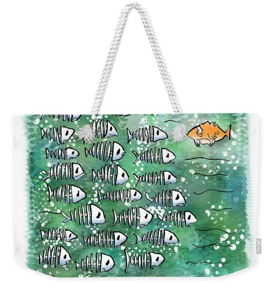 Fish School Reunion Weekender Tote Bag
