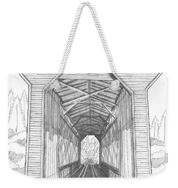 Fisher Railroad Covered Bridge Weekender Tote Bag