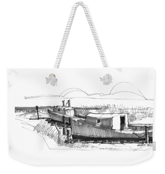 Fishers At Rest Ocracoke Nc 1970s Weekender Tote Bag