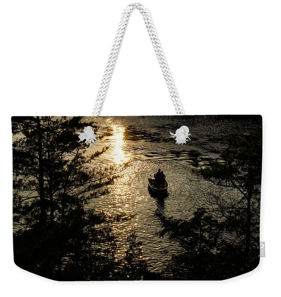 Fishing At Sunset - Thousand Islands Saint Lawrence River Weekender Tote Bag