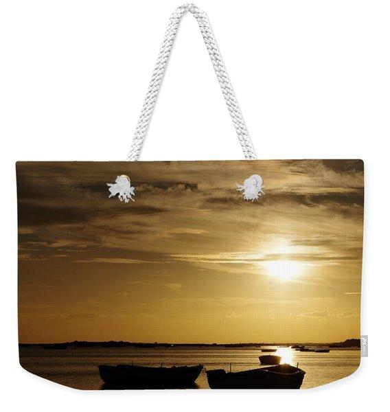 Fishing Boats In Cacela Velha Weekender Tote Bag