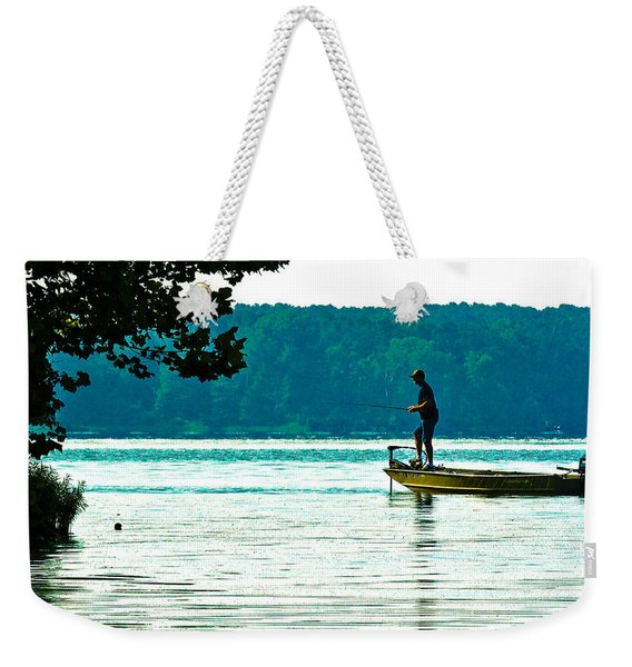 Fishing Crab Orchard Lake Weekender Tote Bag