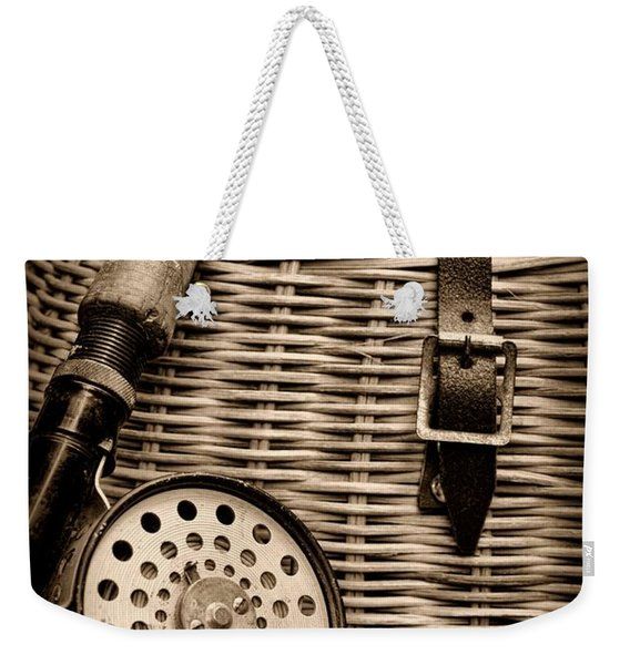 Fishing - Fly Fishing - Black And White Weekender Tote Bag