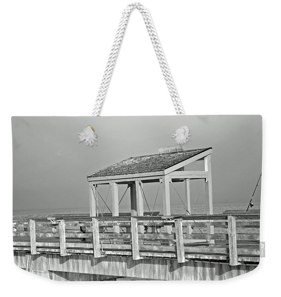 Fishing Pier Weekender Tote Bag