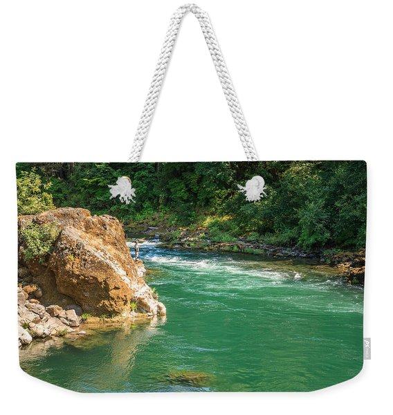 Fishing The River Weekender Tote Bag