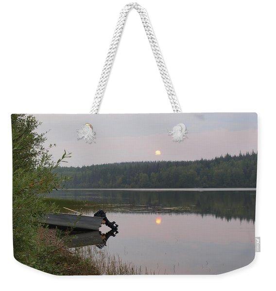 Fishing Tranquility Weekender Tote Bag