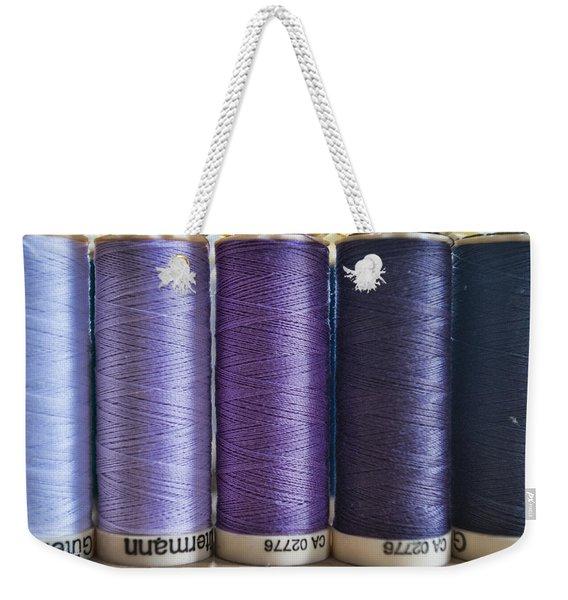 Five Times Purple Weekender Tote Bag