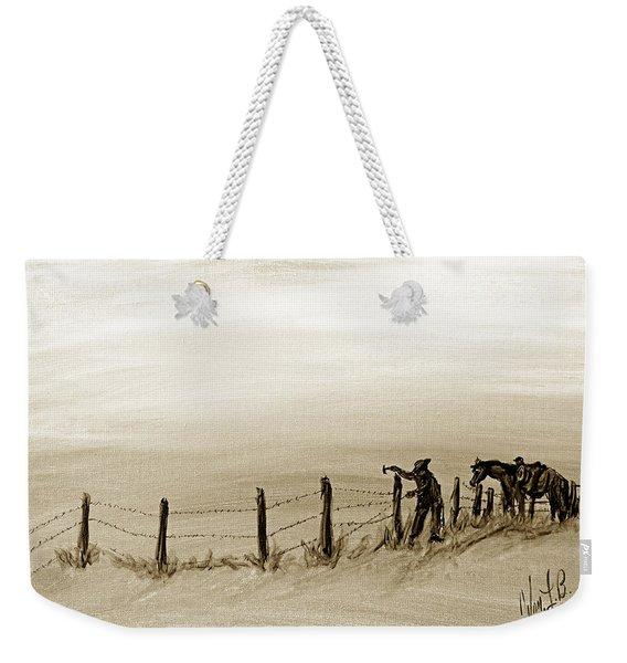 Fix On The Prairie Weekender Tote Bag