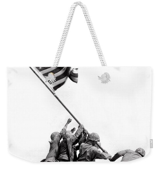 Flag Raising At Iwo Jima Weekender Tote Bag